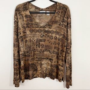 CHICO'S Travelers . Long Sleeve Blouse . 3